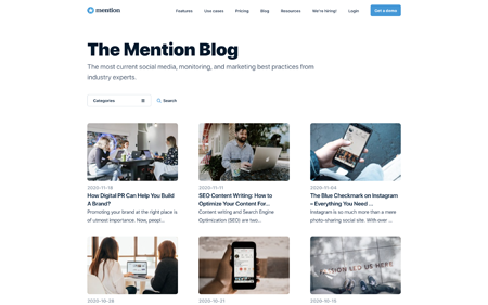 Mention's blog home