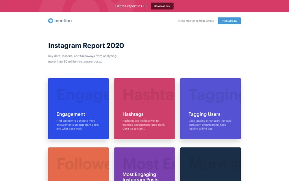 Instagram report - preview